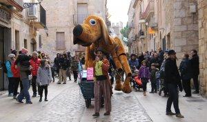 El Petit Lilo, pels carrers de Montblanc.
