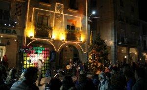 Encesa de llums de Nadal a Santa Coloma, l'any passat.