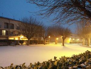 La neu ha agafat a Santa Coloma de Queralt.