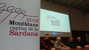Roda de premsa de presentació de Montblanc, capital de la Sardana 2018.
