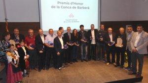 Tots els guardonats amb els Premis d'Honor de la Conca de Barberà.