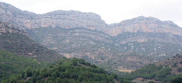 Imatge de la Serra del Montsant.