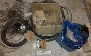 Imatge del material trobat per un veí de Cabacés i desarticulat pels Mossos d'Esquadra.