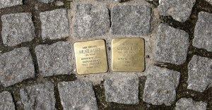 Les plaques Stolpersteine.