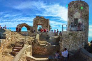 Castell al cim de la muntanya de Burriac