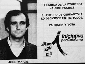 Espai publicitari d'Iniciativa per Catalunya l'any 1987