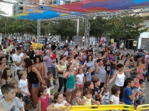 Espectacle infantil durant la Festa Major de Ripollet, l'edició de 2016