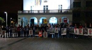 """Fotografia conjunta d'ERC, PDeCAT i CUP, d'inici per la campanya del """"Sí"""""""