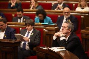El president de la Generalitat en la sessió plenària de Declaració d'Independència