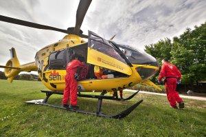 Imatge d'arxiu d'un helicòpter del Sistema d'Emergències Mèdiques
