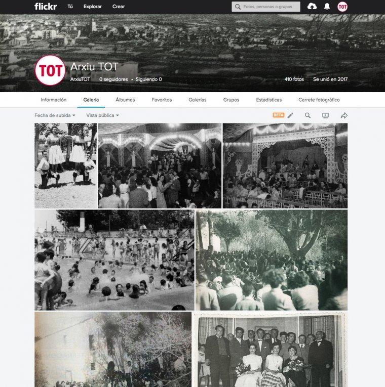 L'Arxiu gràfic del TOT Cerdanyola s'ha començat a el.laborar utilitzant la plataforma FlickR