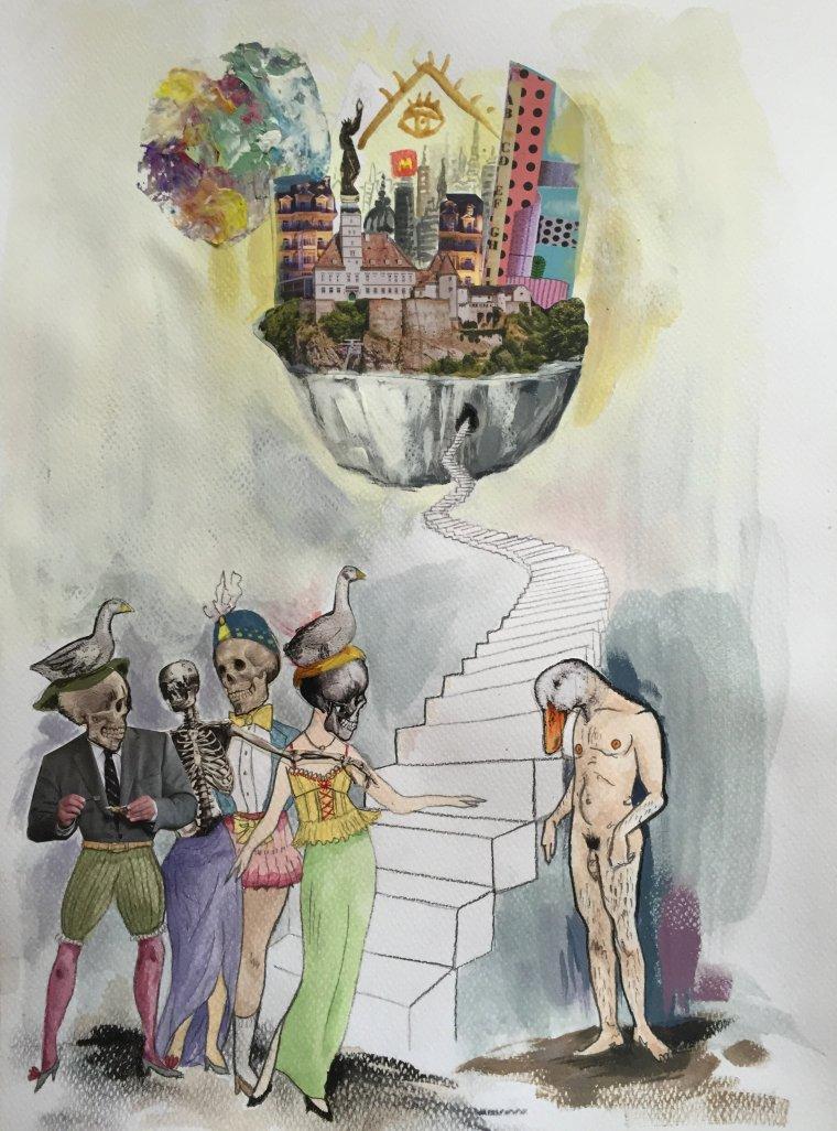 Les il·lustracions tenen un regust burlesc i inquietant molt propi d'Ismael Smith.