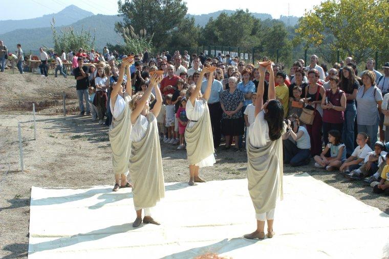 Teatralització durant el 16è Cap de Setmana Ibèric de Cerdanyola