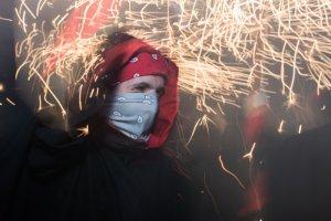 Els diables van enlluernar els carrers de Cerdanyola dissabte al vespre.