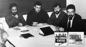 Imatge de Cerdanyola Debat amb els seus logotips, l'any 1994