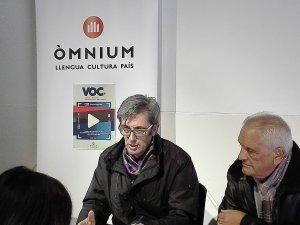 Imatge de la roda de premsa de presentació de la mostra