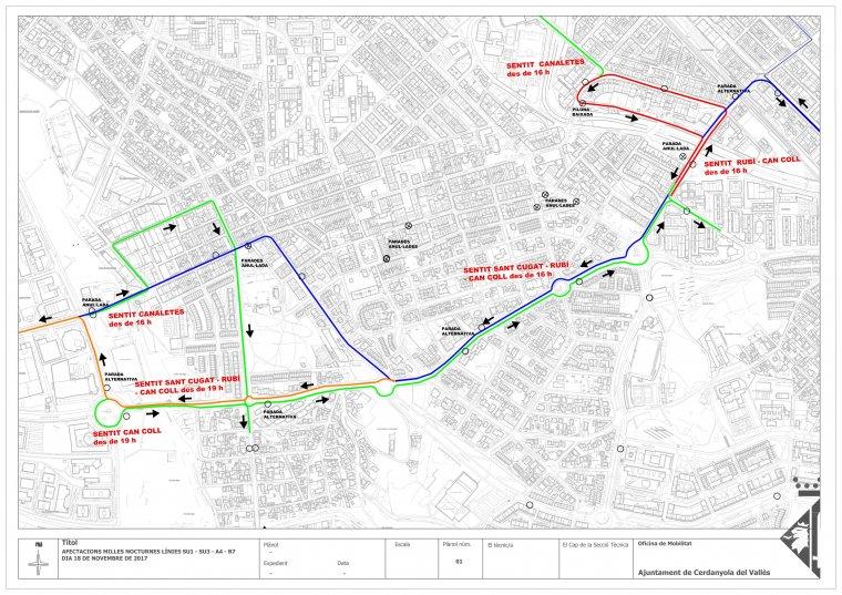 Afectacions del recorregut de les Milles a les línies SU1, SU3, A4 i B7