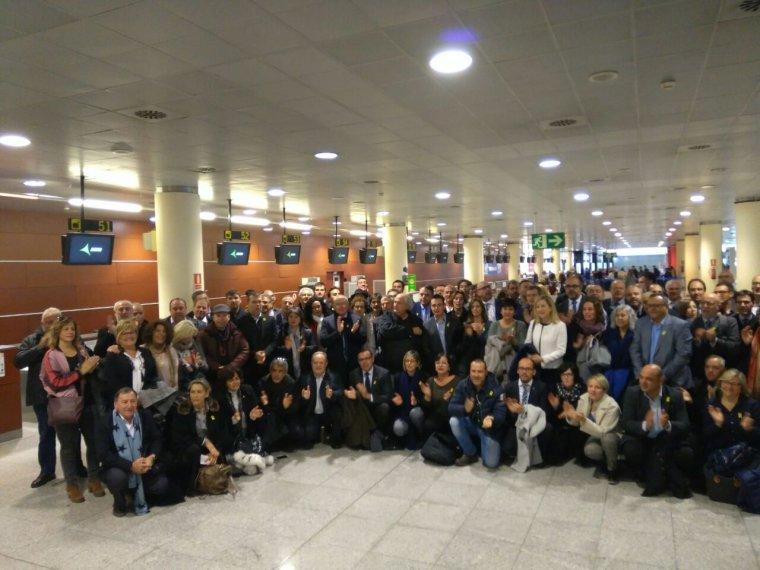 Alcaldes catalans a l'aeroport