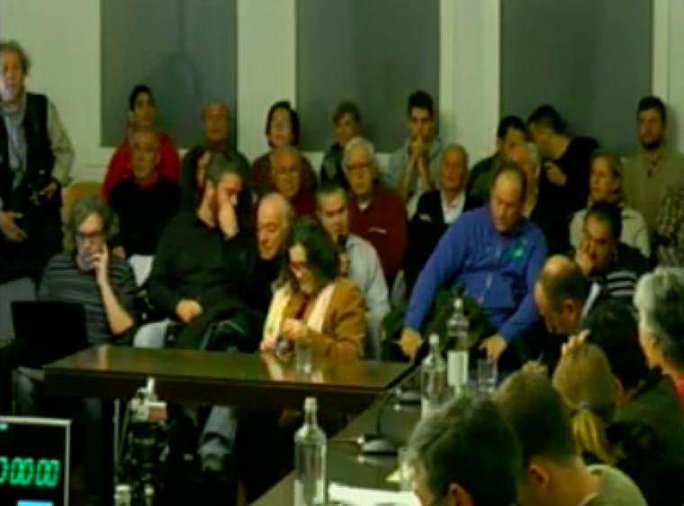 Fotograma de l'audiència ciutadana