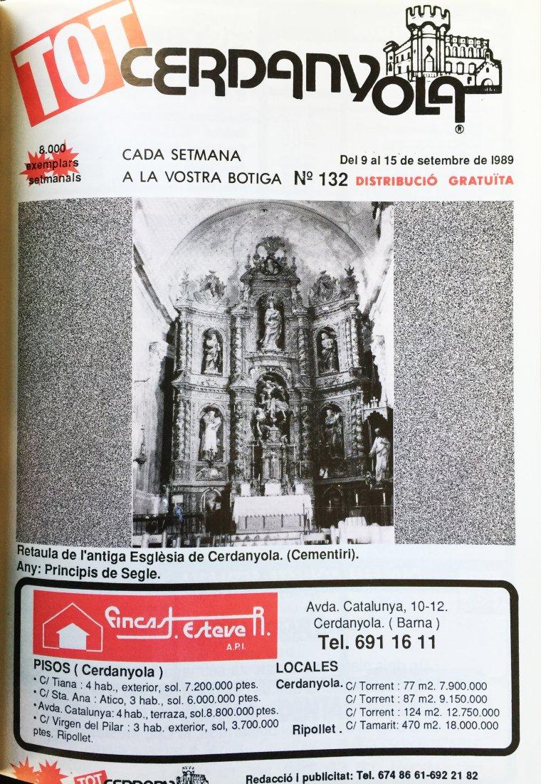 La portada del TOT Cerdanyola, 132