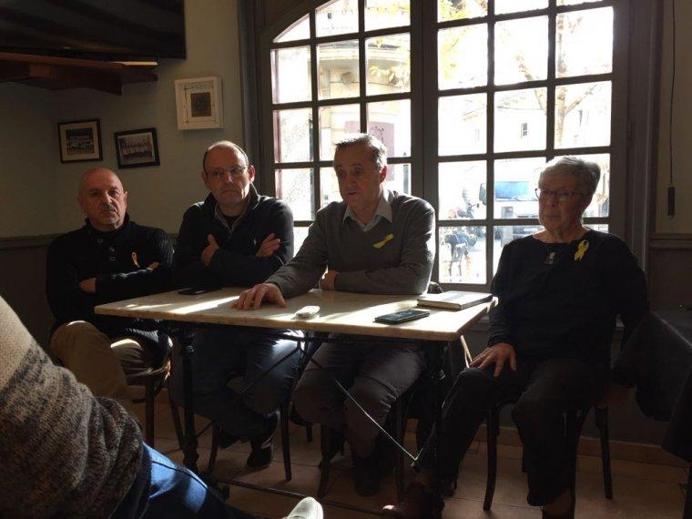 Líders cerdanyolencs del PDeCAT durant la presentació