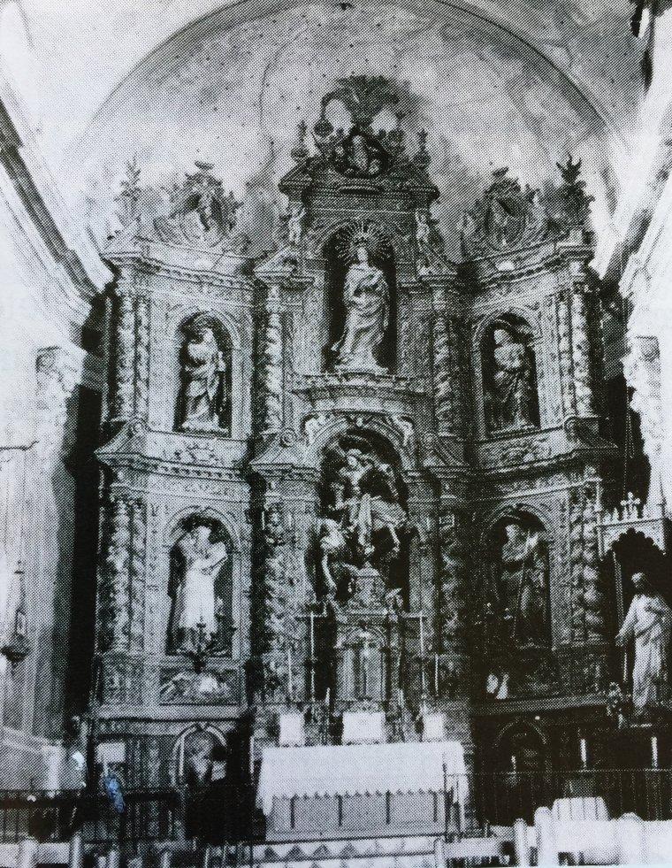 L'original retaule de l'església