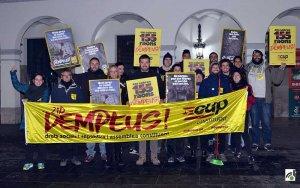 Imatge de l'inici de campanya de la CUP-CC a Cerdanyola