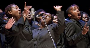 Un moment del concert de South Carolina Gospel Chorale