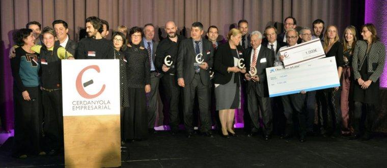 Fotografia conjunta dels diferents premiats