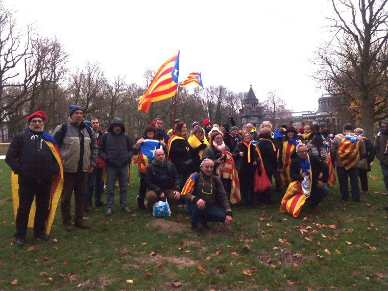 Cerdanyolencs a la manifestació de Brussel·les