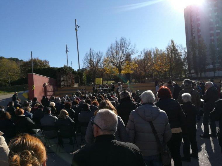 El Parc del Turonet s'ha omplert en l'acte del CDR de Cerdanyola del Vallès.