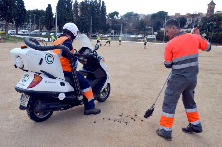 La moto xucla-caques a la ciutat