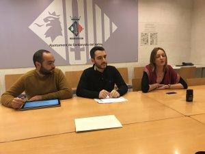 Bernat Gastón, portaveu de CxC, Ivan González, portaveu del grup municipal i regidor a govern i Contxi Haro, ex-portaveu del grup municipal i regidora al govern