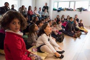 El públic d'un Suc amb Lletres a la Biblioteca Central de Cerdanyola