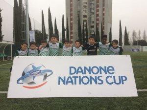 Equip aleví A del Cerdanyola del Vallès FC a la Danone Nations Cup