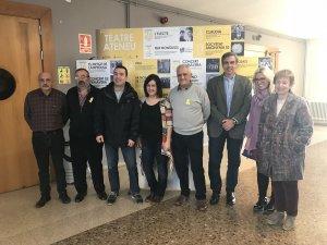 Rafael Arjona, Eduard Lluís, Xavi Cases, Elvi Vila, Jordi Mena, Marcel·lí Sugrañes, Imma Gammo i Rosa Maria Soler a l'Ateneu