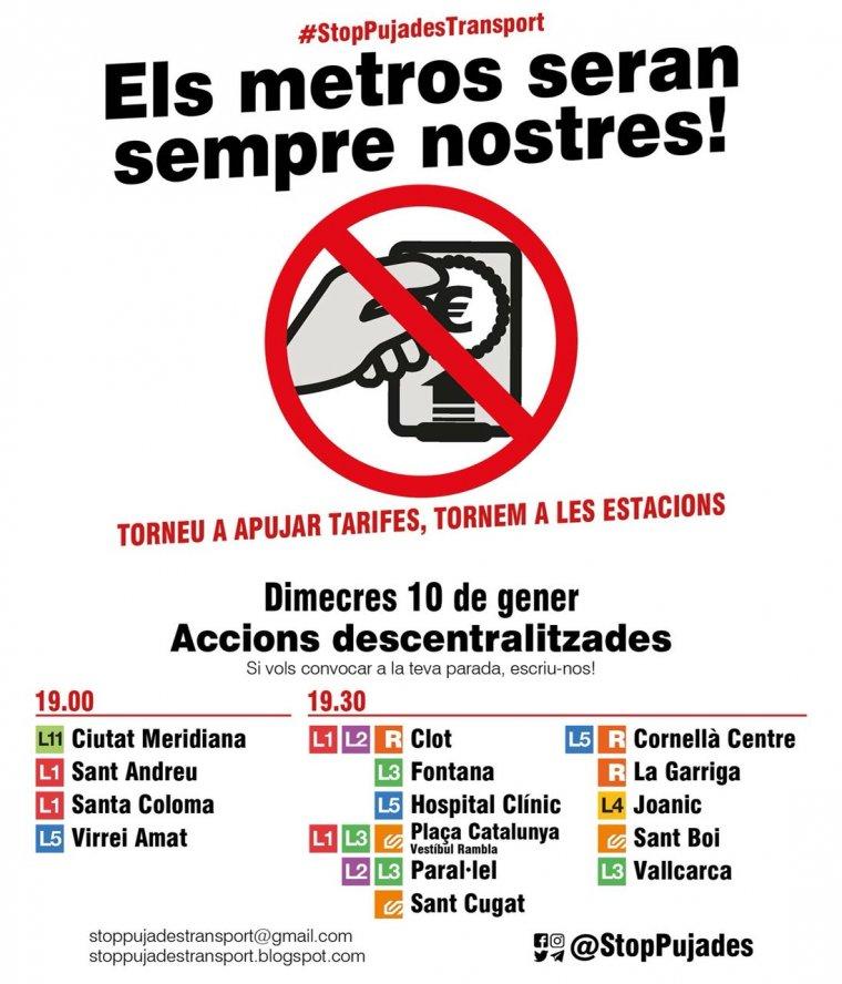 Cartell de convocatòria difós pel CDR de Cerdanyola a Twitter