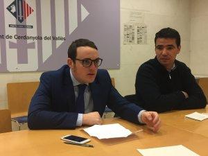 Álvaro Hernández i Manuel Buenaño durant la roda de premsa