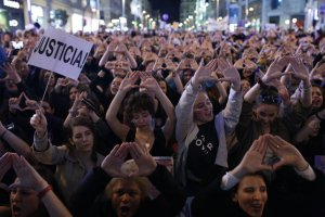 Imatge d'arxiu d'una manifestció feminista