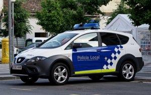 Un cotxe de la Policia Local de Cerdanyola del Vallès