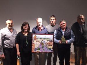 Enric Sirvent, el segon per la dreta, és el premiat en la desena edició del Premi Solidari