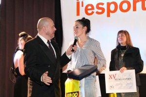 Mireia Pons recull el seu premi