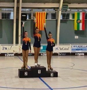 Clàudia López al tercer esglaó del podi al Campionat d'Espanya