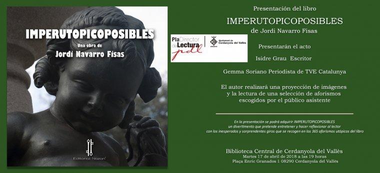 Cartell de la presentació del llibre de Jordi Navarro