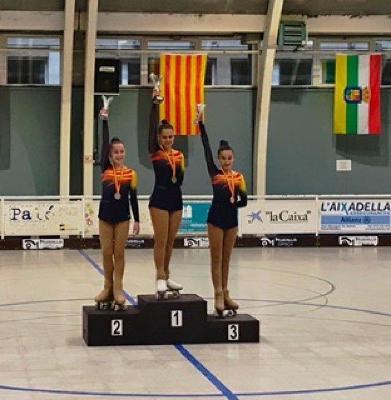 Clà udia López al tercer esglaó del podi al Campionat d'Espanya