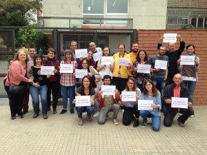 L'assemblea de treballadors de l'IES Banús dona suport als professors de El Palau