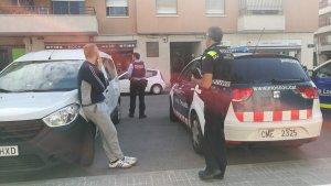 Moment de la detenció a Cerdanyola del Vallès