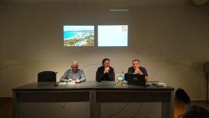 Ramon Pla, Enric Marin i Jordi Puig a la presentació al MAC