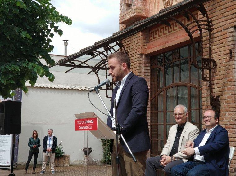 Carlos Codón durant el seu discurs