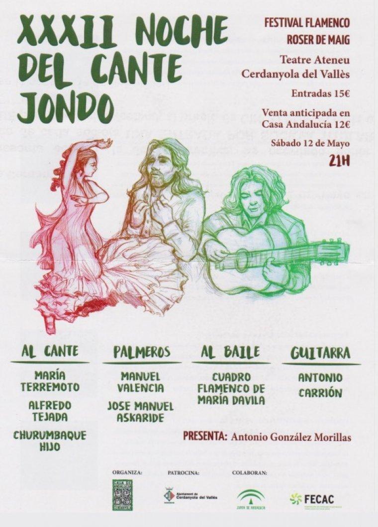 Cartell de la 32a Noche del Cante Jondo
